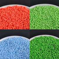 Volltonfarbe Glas Rocailles, Glas-Rocailles, rund, keine, 2mm, Bohrung:ca. 1mm, ca. 1500PCs/Tasche, verkauft von Tasche