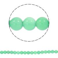 Natürliche grüne Achat Perlen, Grüner Achat, rund, synthetisch, 6mm, Bohrung:ca. 1mm, ca. 64PCs/Strang, verkauft per ca. 19 ZollInch Strang