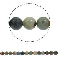 Natürliche Indian Achat Perlen, Indischer Achat, rund, synthetisch, verschiedene Größen vorhanden, Bohrung:ca. 1mm, verkauft per ca. 15 ZollInch Strang