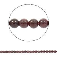 Natürlicher Granat Perlen, rund, synthetisch, Januar Birthstone & verschiedene Größen vorhanden, Bohrung:ca. 1mm, verkauft per ca. 15 ZollInch Strang