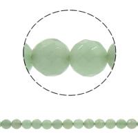 Grüner Aventurin Perle, rund, synthetisch, verschiedene Größen vorhanden & facettierte, Bohrung:ca. 1mm, verkauft per ca. 15 ZollInch Strang