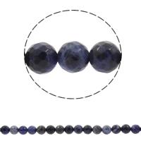 Sodalith Perlen, Sosalith, rund, synthetisch, verschiedene Größen vorhanden & facettierte, Bohrung:ca. 1mm, verkauft per ca. 13.5 ZollInch Strang