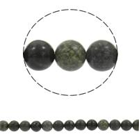 Russische Serpentine Perlen, rund, synthetisch, verschiedene Größen vorhanden, Bohrung:ca. 1mm, verkauft per ca. 15 ZollInch Strang