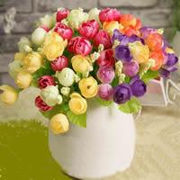 Künstliche Blumendekoration, Kunststoff, mit Seidenspinnerei, keine, 22cm, 10PCs/Tasche, verkauft von Tasche