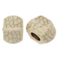 Golddruck Acryl Perlen, Rondell, großes Loch, 16x23mm, Bohrung:ca. 10mm, 2Taschen/Menge, ca. 94PCs/Tasche, verkauft von Menge