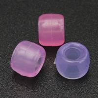 Kunststoffperlen, Kunststoff, Zylinder, transparent, keine, 6x8mm, Bohrung:ca. 5mm, 500PCs/Tasche, verkauft von Tasche