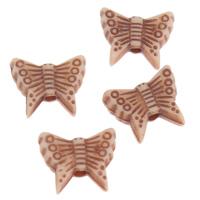 Imitation Ox Bone Acryl-Perlen, Acryl, Schmetterling, Imitation Rind Knochen, Kaffeefarbe, 10x8x3mm, Bohrung:ca. 1mm, 2Taschen/Menge, ca. 3650PCs/Tasche, verkauft von Menge