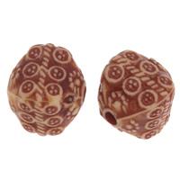 Imitation Ox Bone Acryl-Perlen, Acryl, Trommel, Imitation Rind Knochen, Kaffeefarbe, 11mm, Bohrung:ca. 2mm, 2Taschen/Menge, ca. 530PCs/Tasche, verkauft von Menge