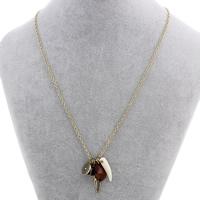 Zinklegierung Schmuck Halskette, mit Eisenkette & Harz, mit Verlängerungskettchen von 6.5cm, plattiert, Oval-Kette & facettierte, frei von Nickel, Blei & Kadmium, 6x6mm-6x30x1mm, verkauft per ca. 18 ZollInch Strang