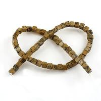 Bild Jaspis Perlen, Würfel, natürlich, aus China, 6x6x6mm, Bohrung:ca. 1mm, Länge:ca. 15.5 ZollInch, 10SträngeStrang/Menge, ca. 64PCs/Strang, verkauft von Menge