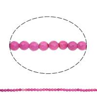 Natürliche Rosa Achat Perlen, rund, facettierte, 6mm, Bohrung:ca. 1mm, Länge:ca. 14.5 ZollInch, 5SträngeStrang/Tasche, ca. 64PCs/Strang, verkauft von Tasche