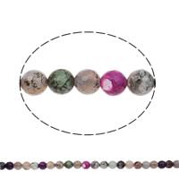 Natürliche Regenbogen Achat Perlen, rund, facettierte, 12mm, Bohrung:ca. 1mm, Länge:ca. 14 ZollInch, 5SträngeStrang/Tasche, ca. 31PCs/Strang, verkauft von Tasche