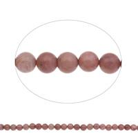 Rhodonit Perlen, rund, natürlich, 10mm, Bohrung:ca. 1mm, Länge:ca. 15 ZollInch, 2SträngeStrang/Tasche, ca. 39PCs/Strang, verkauft von Tasche