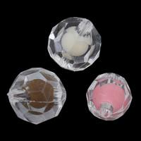 Perlen in Perlen Acrylperlen, Acryl, rund, verschiedene Größen vorhanden & facettierte, keine, Bohrung:ca. 1mm, verkauft von Menge