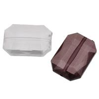 Transparente Acryl-Perlen, Acryl, Rechteck, facettierte, keine, 30x21x10mm, Bohrung:ca. 1mm, 2Taschen/Menge, ca. 100PCs/Tasche, verkauft von Menge