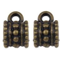 Acryl Stiftöse Perlen, Zylinder, antike Bronzefarbe plattiert, 6.50x10x7mm, Bohrung:ca. 1mm, 3mm, 2Taschen/Menge, ca. 490PCs/Tasche, verkauft von Menge