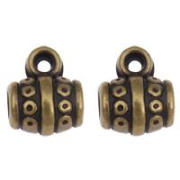 Acryl Stiftöse Perlen, Trommel, antike Bronzefarbe plattiert, 8.50x10.50x7mm, Bohrung:ca. 1mm, 3mm, 2Taschen/Menge, ca. 1600PCs/Tasche, verkauft von Menge