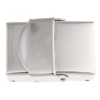 Uhrband Verschluss, Edelstahl, originale Farbe, 25x18x8mm, Bohrung:ca. 15x4mm, 5PCs/Tasche, verkauft von Tasche