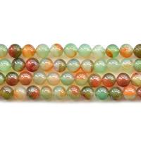 Malachit Achat Perle, rund, natürlich, verschiedene Größen vorhanden, Bohrung:ca. 1mm, verkauft per ca. 15.5 ZollInch Strang