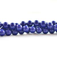 Synthetischer Lapislazuli Perlen, rund, verschiedene Größen vorhanden, Bohrung:ca. 1mm, verkauft per ca. 15.5 ZollInch Strang