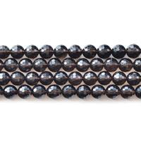 Natürliche Rauchquarz Perlen, rund, verschiedene Größen vorhanden & facettierte, Bohrung:ca. 1mm, verkauft per ca. 15.5 ZollInch Strang