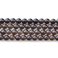 Natürliche Rauchquarz Perlen, rund, verschiedene Größen vorhanden, Bohrung:ca. 1mm, verkauft per ca. 15.5 ZollInch Strang