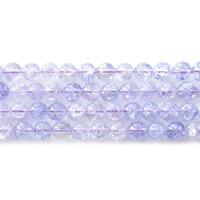 Knistern Quarz Perlen, rund, verschiedene Größen vorhanden, hellviolett, Bohrung:ca. 1mm, verkauft per ca. 15.5 ZollInch Strang