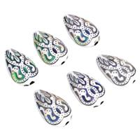 Emaille-Stimmung-Perlen, Acryl, Tropfen, Mood Emaille & Emaille Stimmung, 11x18x7mm, Bohrung:ca. 2mm, verkauft von PC