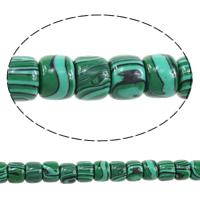 Malachit Perlen, Zylinder, 8x10x10mm, Bohrung:ca. 2mm, Länge:ca. 16 ZollInch, 3SträngeStrang/Menge, ca. 51PCs/Strang, verkauft von Menge