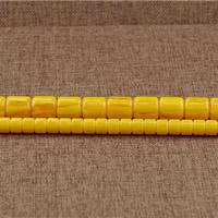Imitierter Bernstein Harz Perlen, Zylinder, Nachahmung Bienenwachs & verschiedene Größen vorhanden, Bohrung:ca. 1.5mm, Länge:ca. 15.5 ZollInch, verkauft von Menge