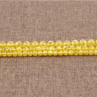 Imitierter Bernstein Harz Perlen, rund, Nachahmung Bienenwachs & verschiedene Größen vorhanden, Bohrung:ca. 1.5mm, Länge:ca. 15.5 ZollInch, verkauft von Menge