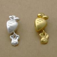 99% Großes Loch Perlen, Karotte, plattiert, keine, frei von Nickel, Blei & Kadmium, 10x18x9mm, Bohrung:ca. 3mm, 5PCs/Menge, verkauft von Menge