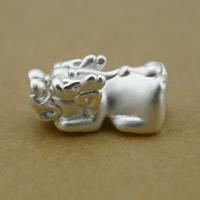 99 % Sterling Silber Beads, 99%, Fabelhaft wildes Tier, plattiert, keine, frei von Nickel, Blei & Kadmium, 7x10x17mm, Bohrung:ca. 2x3mm, 10PCs/Menge, verkauft von Menge