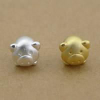 99% Großes Loch Perlen, Schwein, plattiert, keine, frei von Nickel, Blei & Kadmium, 9x10mm, Bohrung:ca. 3.5mm, 10PCs/Menge, verkauft von Menge