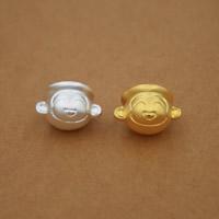 99% Großes Loch Perlen, Affe, plattiert, keine, 13x16mm, Bohrung:ca. 3mm, 6PCs/Menge, verkauft von Menge