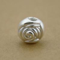 99% Perle, Blume, plattiert, keine, 9x10x11mm, Bohrung:ca. 2mm, 6PCs/Menge, verkauft von Menge