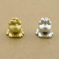 99% Großes Loch Perlen, Frosch, plattiert, keine, 10x10mm, Bohrung:ca. 4mm, 10PCs/Menge, verkauft von Menge