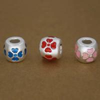 99% Großes Loch Perlen, Trommel, keine, 9x11mm, Bohrung:ca. 3mm, 5PCs/Menge, verkauft von Menge