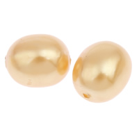 Imitation Acryl-Perlen, Acryl, oval, Nachahmung Perle, klare Orange, 13x10mm, Bohrung:ca. 1mm, 2Taschen/Menge, ca. 550PCs/Tasche, verkauft von Menge
