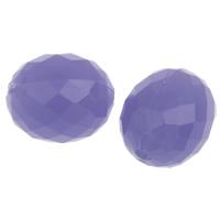 Gelee-Stil-Acryl-Perlen, Acryl, oval, facettierte & Gellee Stil, violett, 16x13mm, Bohrung:ca. 1mm, 2Taschen/Menge, ca. 290PCs/Tasche, verkauft von Menge