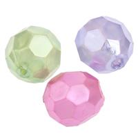 Imitation Acryl-Perlen, Acryl, oval, Nachahmung Perle & facettierte, keine, 12x11mm, Bohrung:ca. 2mm, 2Taschen/Menge, ca. 500PCs/Tasche, verkauft von Menge