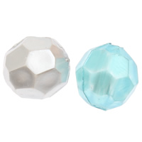 Imitation Acryl-Perlen, Acryl, oval, Nachahmung Perle & facettierte, keine, 8x7mm, Bohrung:ca. 1mm, 2Taschen/Menge, ca. 2500PCs/Tasche, verkauft von Menge