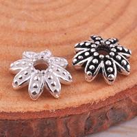 925 Sterling Silber Perlenkappe, Blume, gemischte Farben, 7.4x7.4mm, Bohrung:ca. 1.5mm, 10PCs/Tasche, verkauft von Tasche
