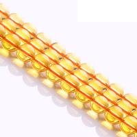 Natürlicher Citrin Perlen, Gelbquarz Perlen, rund, November Birthstone & verschiedene Größen vorhanden, Grade AAAAAA, Bohrung:ca. 1mm, verkauft per ca. 15.5 ZollInch Strang