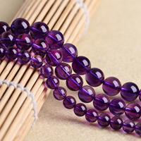 Natürliche Amethyst Perlen, rund, Februar Birthstone & verschiedene Größen vorhanden, Bohrung:ca. 1mm, verkauft per ca. 15.5 ZollInch Strang