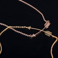 Edelstahl Schmuck Halskette, Pfeil, plattiert, Oval-Kette, keine, 5x33mm, verkauft per ca. 15.35 ZollInch Strang