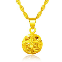 24 k-Gold überzogene hängende Farbe, Messing, rund, 24 K vergoldet, Vakuum Protektor Farbe & hohl, 11mm, Bohrung:ca. 3x5mm, 10PCs/Menge, verkauft von Menge