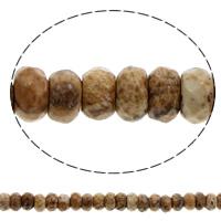 Bild Jaspis Perle, Rondell, facettierte, 6x4mm, Bohrung:ca. 1mm, Länge:ca. 15.5 ZollInch, 10SträngeStrang/Tasche, ca. 100PCs/Strang, verkauft von Tasche