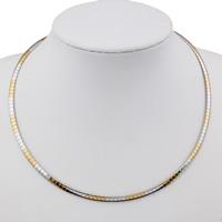 Halskette, Edelstahl, plattiert, keine, 4x1mm, verkauft per ca. 18 ZollInch Strang