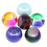 Lampwork Perlen European Stil, Trommel, handgemacht, keine, 14x10mm, Bohrung:ca. 5mm, 10PCs/Tasche, verkauft von Tasche